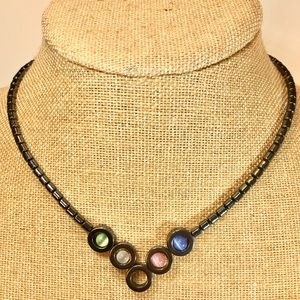 """Jewelry - Necklace with cat eye beads 18"""""""